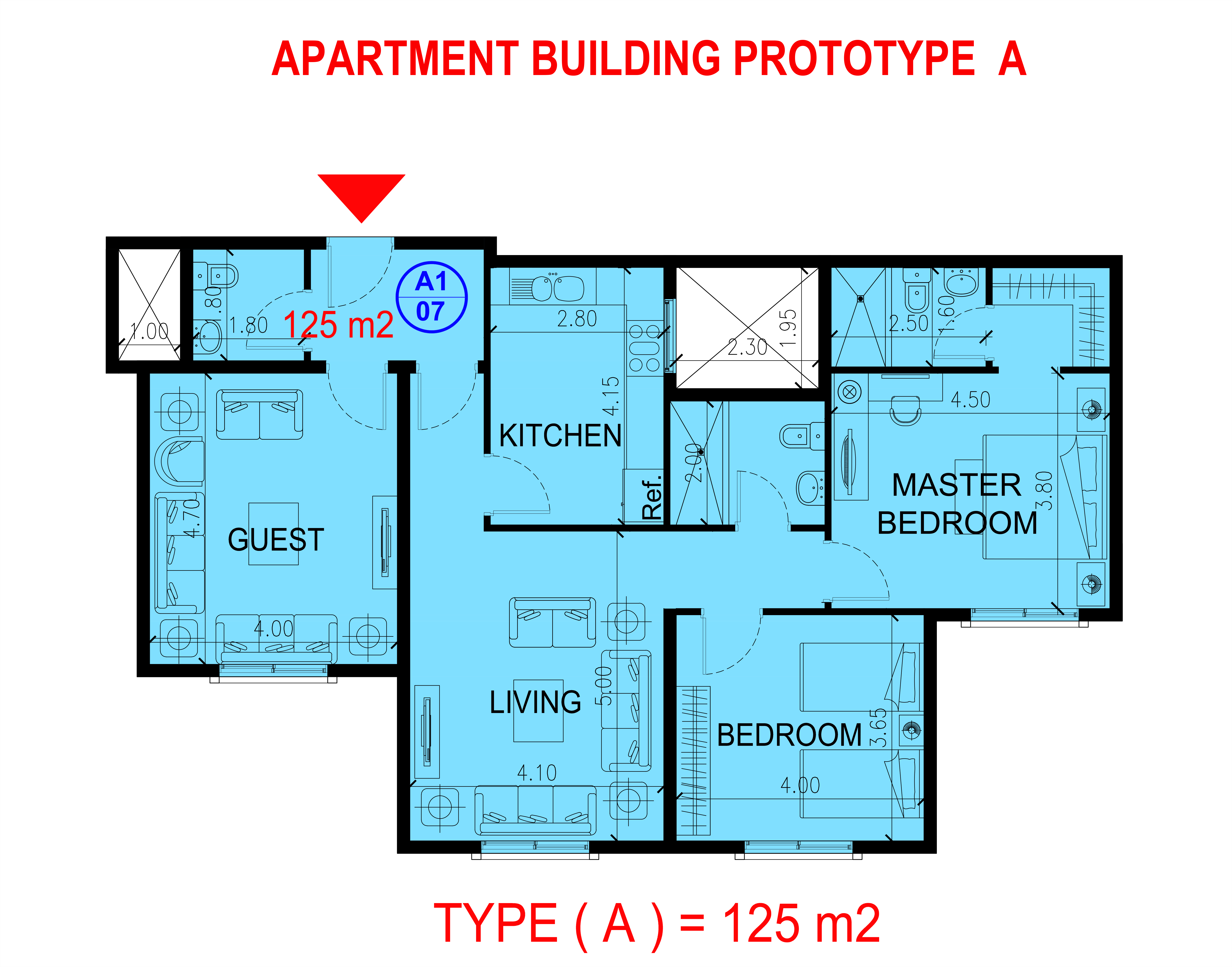 شقة من غرفتين نوم